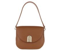 Satchel Bag Sleek Mini Crossbody Cognac