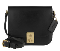 Umhängetasche Box Calf Leather Hutton Saddle Bag Black