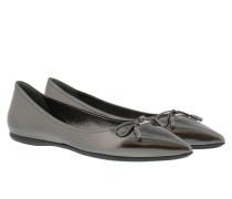 Calzature Donna Vitello Specchio Ballerina Antracite Ballerinas grau
