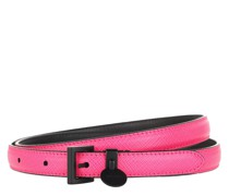 Gürtel Saffiano Thin Belt Leather Pink