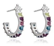 Ohrringe Statement Gemstone Hoop Earrings