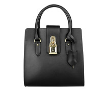Medium Padlock Handbag Black Tote schwarz