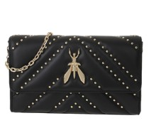 Umhängetasche Small Gold Chain Crossbody Bag Nero