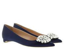 Ballerinas - Bedfa Jewel Satin Flats Moroccan Blue