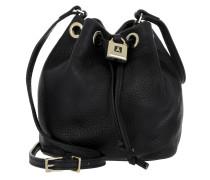 Mini Bucket Bag Padlock Calf Black Beuteltasche