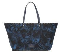 Tasche - Studded Shopping Bag Butterfly Blue