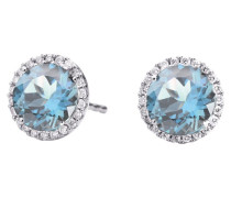 Ohrringe Earrings Espressivo Topas Sky Blue Faceted White Gold