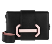 Plex Ribbon Umhängetasche Nero/Rosa rosa
