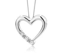 Halskette 0.08ct Diamond Heart Necklace