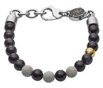 Armband Beaded Two-Tone Semi-Precious Concrete Bracelet Black