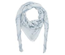 Wool Silk Cashmere Scarf Artic Schal blau