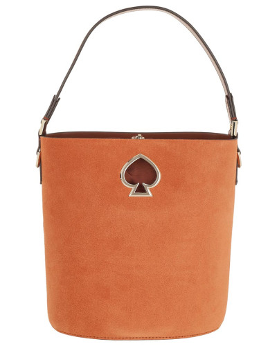 Beuteltasche Suzy Suede Small Bucket Bag Amber orange