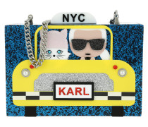Karl NYC Taxi Minaudiere Clutch Navy gelb