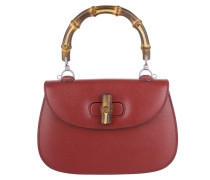 Tasche - Bamboo Classic Leather Top Handle Satchel Red