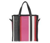 Bazar Shopper S Stripes Leather Rose Hortensia Shopper