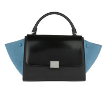 Tasche - Small Calf Leather Trapeze Bag Black - in blau, schwarz - Henkeltasche für Damen