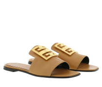 Sandalen 4G Flat Sandals Leather Brown