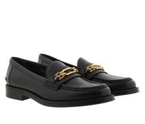 Schuhe Elodie Calf Flat Loafer Black