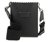 Umhängetasche Synthetic Leather Shopping Bag Black
