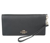 Kleinleder - Slim Wallet Leather Pebbled Leather Black