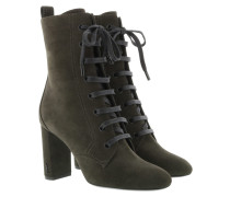 Lace Up Boots Green Schuhe