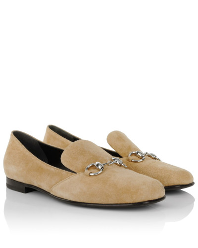 Loafers & Slippers - Kid Scamosciato Loafer Beige