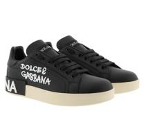 Sneakers Portofino Scritte/Nero