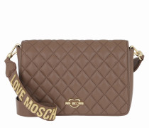Borsa Nappa Quilted Pu Shoulder Bag Cammello