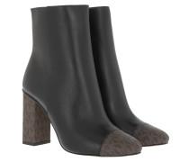 Boots Petra Toe Cap Heeled Bootie Black Brown