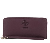 Portemonnaie Digital Large Zip Around Wallet Merlot