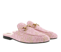 Princetown Lace Slipper Light Pink Schuhe