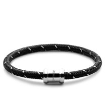 Armband Mini Single Rope Casing Bracelet Stainless Steel Polished M Black/Steel