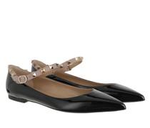 Ballerinas Rockstud Mule Leather Nero/Poudre