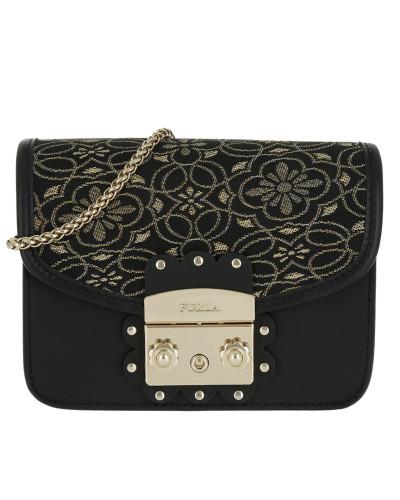 Billig Ausgezeichnet Günstig Kaufen Die Besten Preise Furla Damen Metropolis Arabesque Mini Crossbody Onyx+Gold Tasche gold ndXjc41w