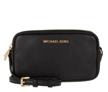 Bedford MD Double Zip Crossbody Bag Leather Black