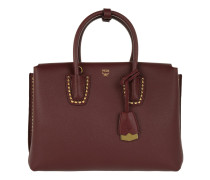 Milla Studded Outline Tote Medium Burgundy rot