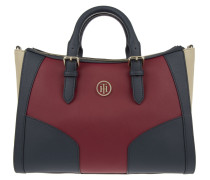 Tasche - Miss Tommy Satchel Colourblock Midnight/ Scooter Red/ Oatmeal