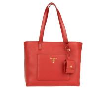 Shopping Bag Vitello Daino Rosso Tote rot