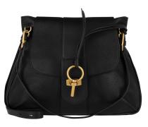 Lexa Large Shoulder Bag Double Strap Black Satchel