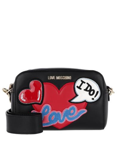 Moschino Damen Logo Love Crossbody Bag Nero Tasche Spielraum Niedriger Versand Spielraum Shop Günstig Online TFOXViv