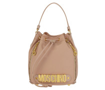 Logo Medium Nylon Bucket Bag Rose Beuteltasche