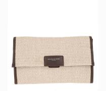 Umhängetasche Marcella Paglia Shoulder Bag Naturale Arancio Fluo
