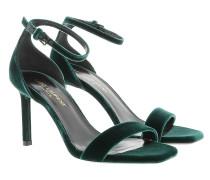 Ambar Sandale Suede Dark Green Sandalen