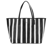 Tasche - Selina Stripe Print Shopper Large Black