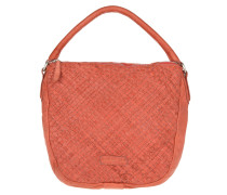 Maggie Sheep Natural / Woven Pink Flamingo Hobo Bag rot
