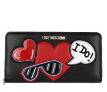 Wallet Heart Nero Portemonnaie