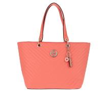 Shopper Kamryn Tote Bag Coral