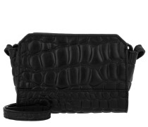 Hollywood Umhängetasche Bag Croco Oil Black