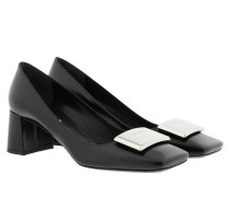Pumps High Heels Leather Black