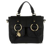 Filipa Shoulder Bag Grained Black Umhängetasche